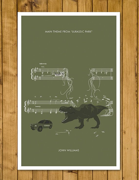 Hey, I found this really awesome Etsy listing at https://www.etsy.com/listing/233824639/jurassic-park-theme-from-jurassic-park