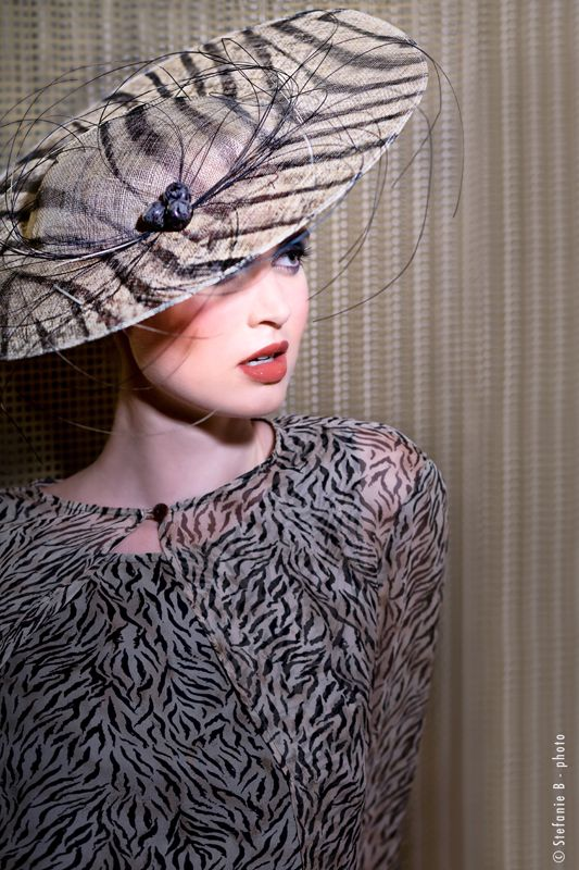 The Zebra Hat. Mademoiselle Slassi (Paris)
