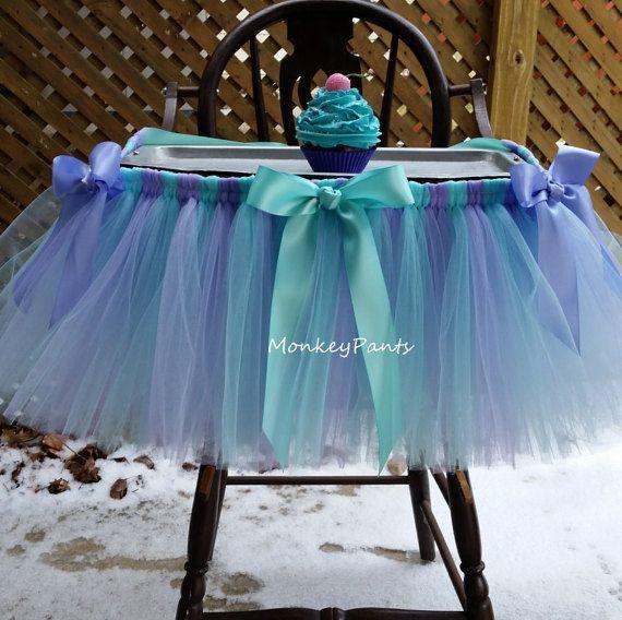 Chaise haute Tutu jupe - gâteau Smash Tutu - chaise haute décoration