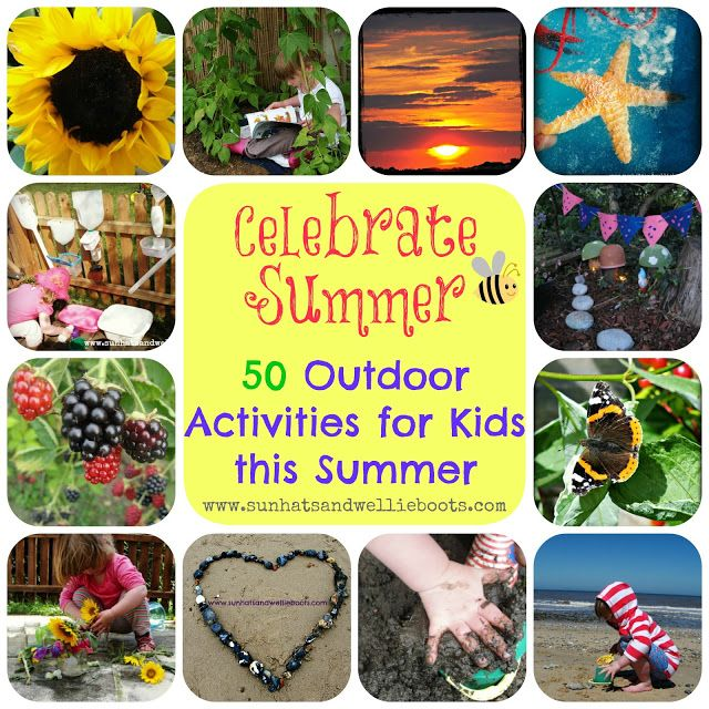 50 Outdoor Activities for Kids from Sun Hats & Wellie Boots {Would be great for After School & Weekend Activities too}