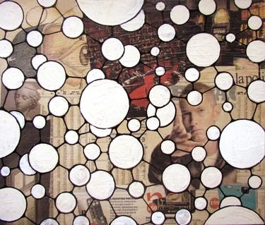 "Saatchi Online Artist Guido Pierandrei; Assemblage / Collage, ""THE BIG PLAN"" #art"
