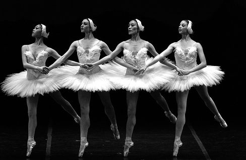 """I saw my first """"live"""" ballet show at famous Bolshoi Theater in Moscow. Swan Lake."""