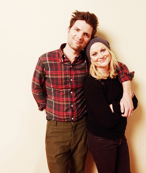 Amy Poehler y Adam Scott posan en la edición del 2013 del Festival de Cine de Sundance el January 23, 2013 en Park City, Utah.