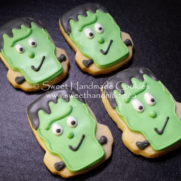 Sweet Handmade Cookies: frankenstein halloween cookies