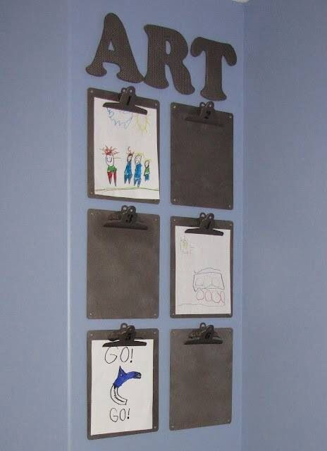 Love this idea! What a great way to showcase the different pictures that kids bring!