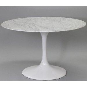 eero saarin tulip dining table white marble top