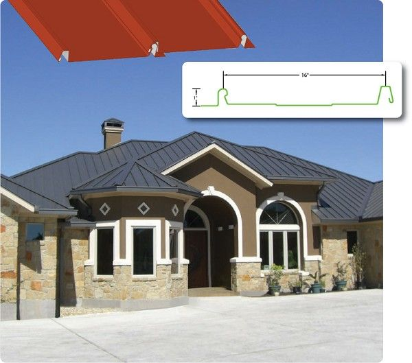 """1"""" Nominal Height standing seam metal roof manufacture. Standing Seam Metal Roof Panels formed onsite - Jobsite manufacture of metal roofing panels - Austin Snap Loc Supply"""