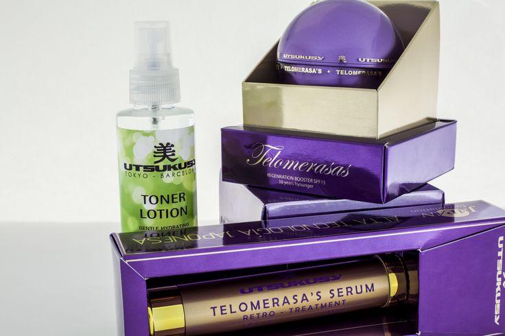De Telomerasa's lijn, speciaal ontwikkeld om huidveroudering en zonbeschadiging te behandelen. De resultaten zijn verbluffend. De uitvinding van telomeren heeft in 2009 de Nobelprijs voor Fysiologie gewonnen. Diep herstel van de huid. Zeer effectief tegen huidveroudering. Blogger Tatiana gebruikte de producten. Haar bevindingen vind je hier: http://www.blogenbeauty.nl/utsukusy-telomerasas-home-care-pack/