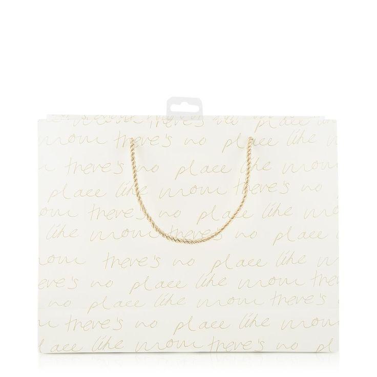 Script Print Gift Bag