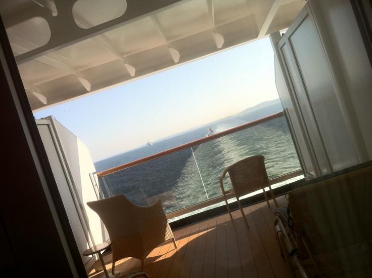 Best Balcony View Ever @HALCruises Oosterdam #cruise #HALCRUISES