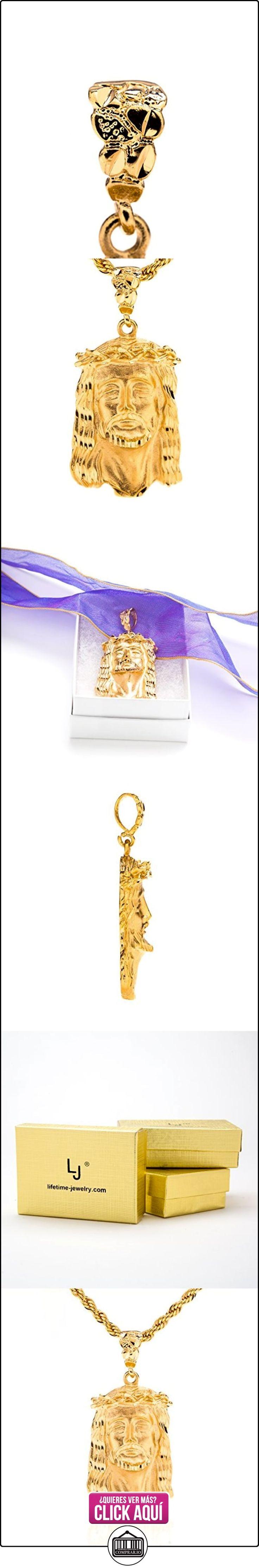Jesús pieza cadena garantía de por vida garantía de por vida hecho en Estados Unidos X30gruesos 24K chapado en oro Christian collar con colgante Face de Cristo  ✿ Joyas para hombres especiales - lujo ✿ ▬► Ver oferta: https://comprar.io/goto/B01CUZQO5W