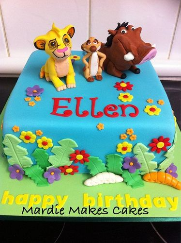 Lion King Cake  www.facebook.com/MardieMakesCakes