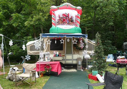 17 Best Images About Camping Campsite Holiday Decorating