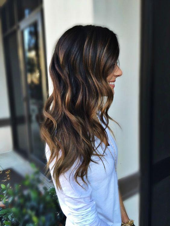 Best 25 dark highlights ideas on pinterest dark brown hair 22 dark brunette hair with caramel highlights styleoholic pmusecretfo Images