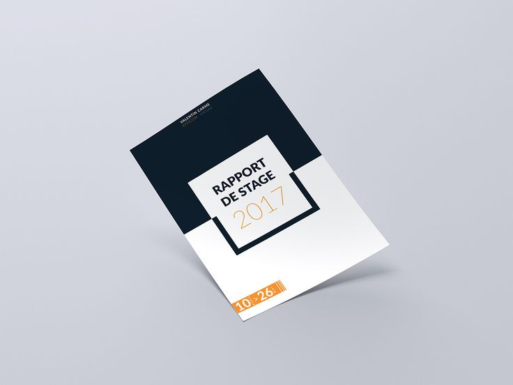 Best Rapport De Stage Graphiste Images On   Page