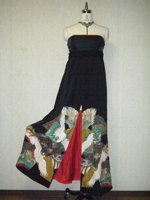 Love this re-purposed vintage Tomesode kimono dress !