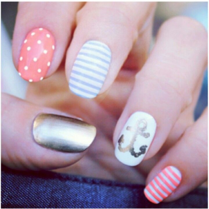 Nails, DIY Nails, cute & simple design