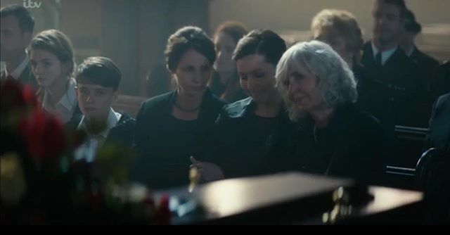 Here is the scene from Bancroft that I have been telling you all about! This one is extra special to me as the person playing my sister is my real sister! #bancroft #itv #funeral #actorsdaughters #extras #backgroundartists #featuredartists #supportingartists