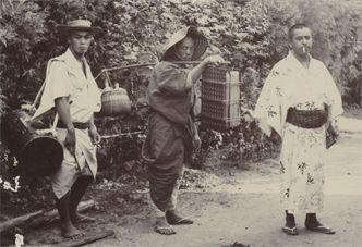 植物採集へ出かける熊楠(右端)。(南方熊楠顕彰館所蔵)