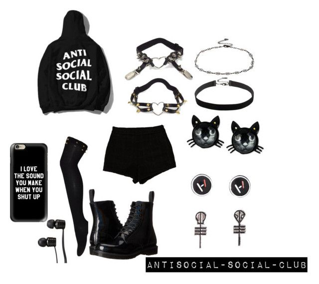 """"""":)"""" by guns-nicole-roses on Polyvore featuring Dr. Martens, T By Alexander Wang, Accessorize, Betsey Johnson, Vans and Casetify"""