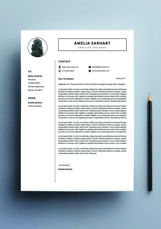 Resume Template Instant Download Professional Word Modern Writing CV