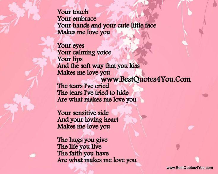 Why i love my girlfriend poem