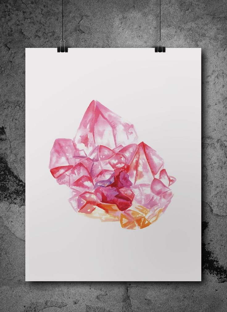 rose quartz watercolour print