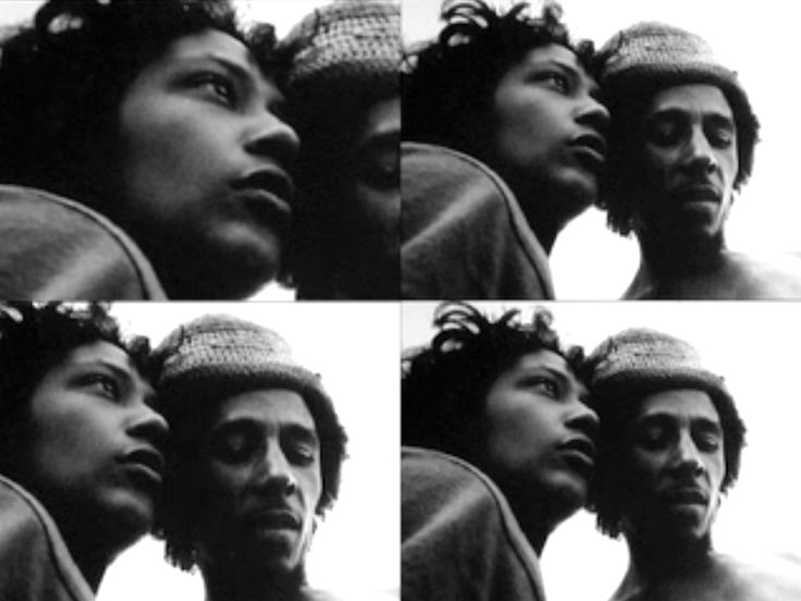 **Bob Marley** & Esther Anderson, Trinidad, 1973. Promotional visit to Trinidad with Esther Anderson & Chris Blackwell, shortly after The Wailers signed to Island Records. Story behind the picture: https://massappeal.com/contact-high-esther-anderson-on-photographing-bob-tuff-gong-marley-circa-1973. More fantastic pictures, music and videos of *Robert Nesta Marley* on: https://de.pinterest.com/ReggaeHeart/ ©Esther Anderson