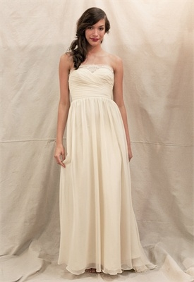 chiffon A-line strapless sweetheart simple white/ivory Wedding Dresses Under $200 WDU036: Flowers Girls Dresses, Wedding Dressses, Athena Dresses, Bridesmaid Dresses, Ivy And Aster, Bridal Gowns, Prom Dress, Simple Wedding, Wedding Dresses Style