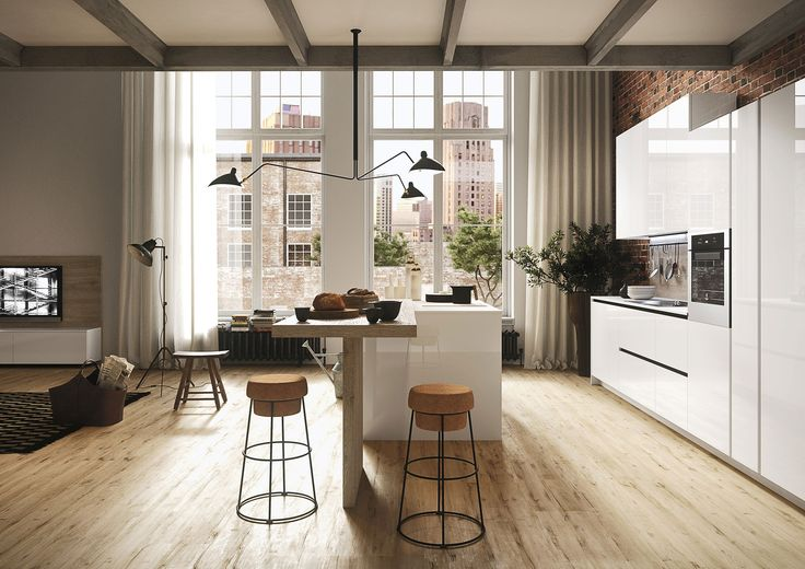 Nieuwe Italiaanse keukens (by Snaidero Cucine en Tieleman Keukens): modellen 'Look' en 'First'