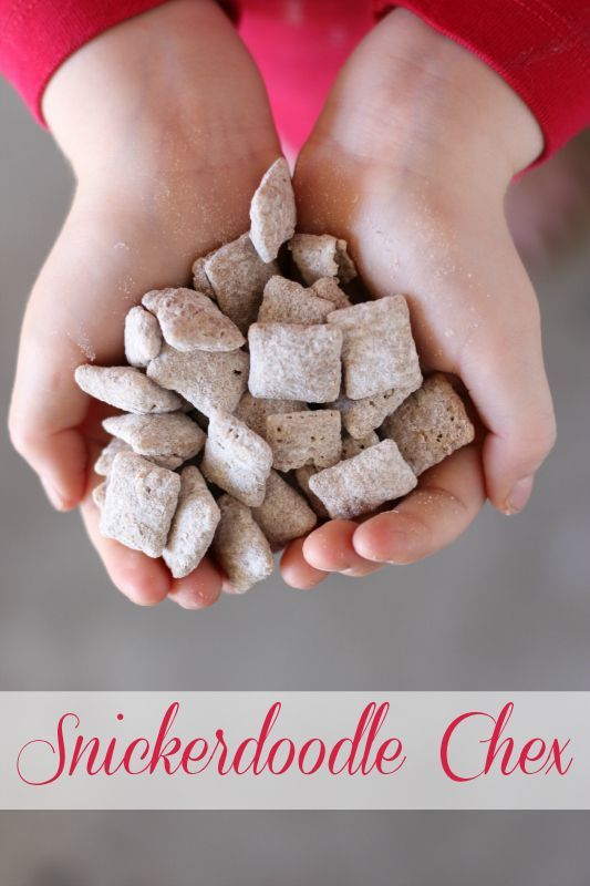 The white chocolate and cinnamon flavor of this Snickerdoodle Chex is scrumptious! I bet you can't eat just one handful!