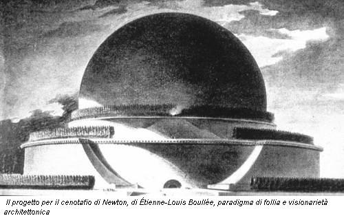 9. étienne-luis Boullée,Progetto per il  Cenotafio di Newton, 1780 circa disegno, Parigi biblioteca nazionale