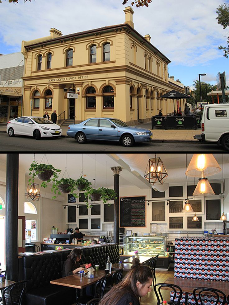 Former Marrickville Post Office (c.1890), Sydney Australia now used as a cafe.