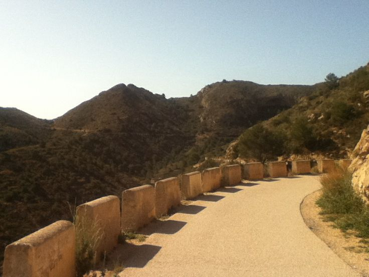 A road in Albir, Spain.