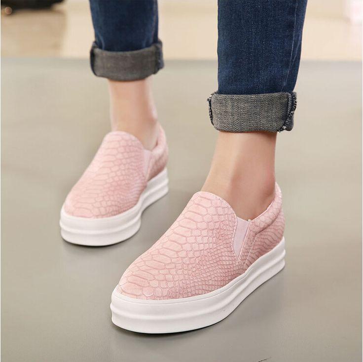 Nieuwe Vrouwen Loafers Casual Flats Hakken Ronde Neus Zwart Roze Loafer Schoenen Herfst Comfort Vrouwen Schoenen