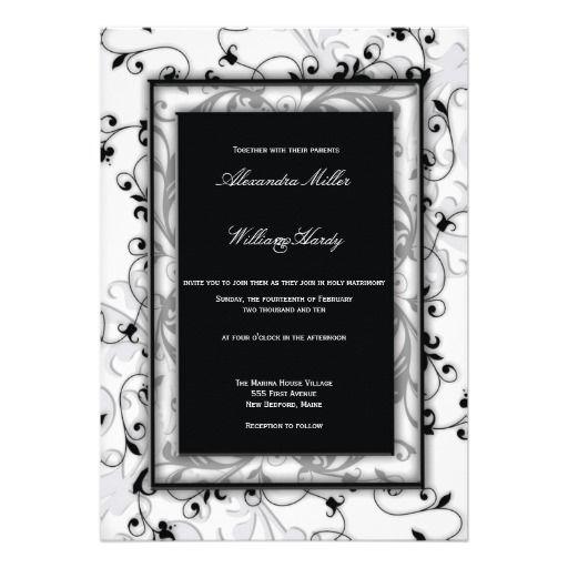 168 best zen wedding inspirations images on pinterest wedding black and white swirls wedding invitations stopboris Gallery
