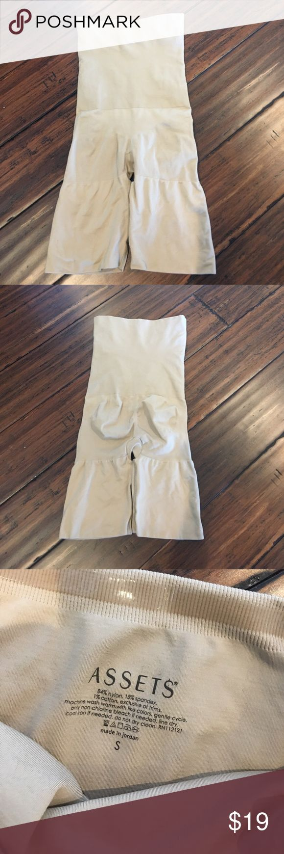 Assets By Spanx Nude High Waist Control Shaper S Assets By Spanx Nude High Waist Control Shaper S - worn once for a wedding ASSETS by Sara Blakely Intimates & Sleepwear Shapewear