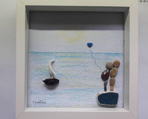 https://www.etsy.com/listing/580748141/pebble-art-frame-kids-gift-new-born-baby  #fdvafiadi