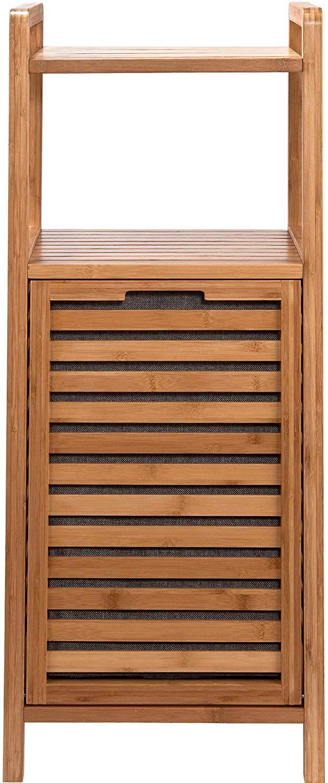 Butlers Big Bamboo Bad Regal Mit Waschekorb Aus Bambus 40x95 Cm Badezimmer Schrank Aus Holz Amazon De Kuche Hausha Waschekorb Bambus Badezimmer Schrank