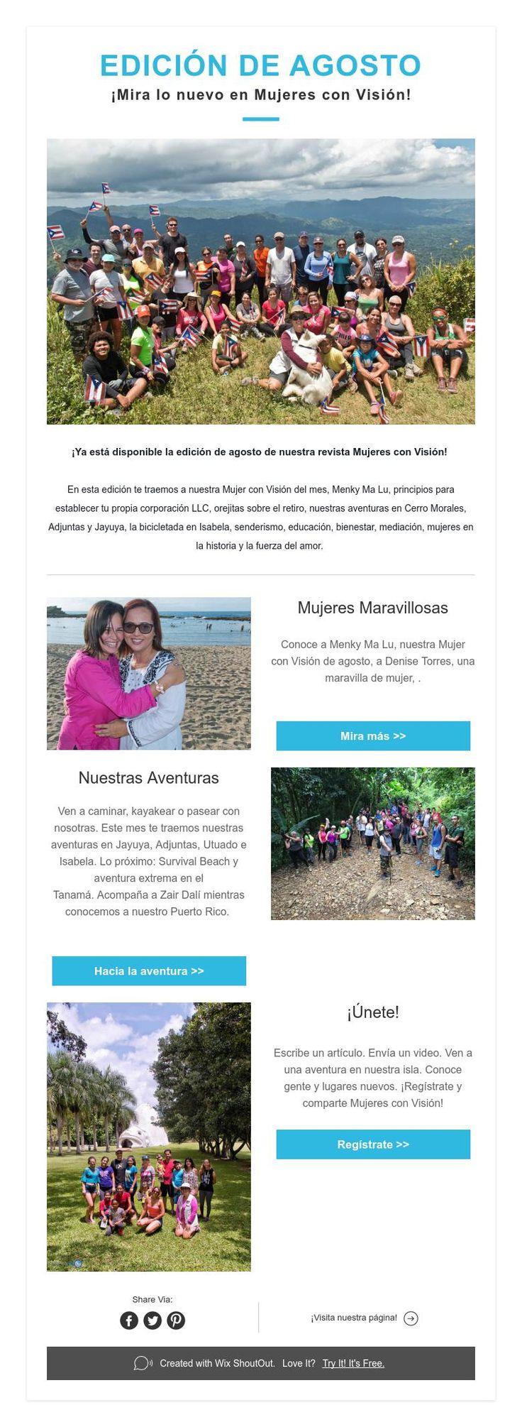 EDICIÓN DE AGOSTO  ¡Mira lo nuevo en Mujeres con Visión!