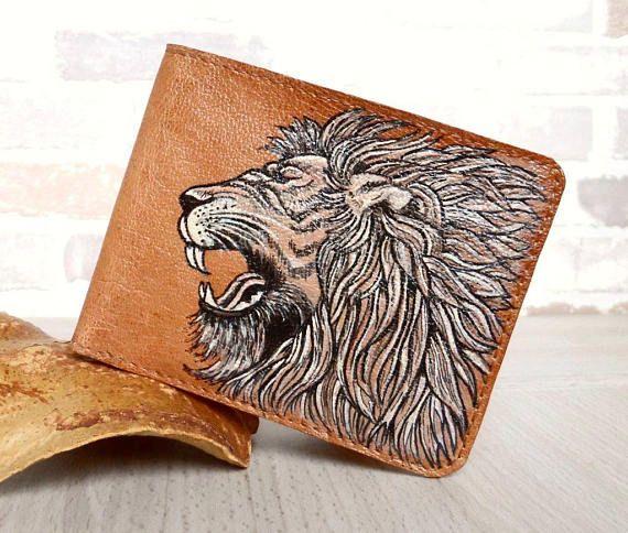 <b>Genuine Leather Wallet</b> LION, Leather Card <b>Wallet</b>, Pocket <b>Wallet</b> ...