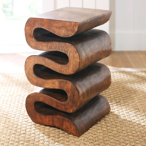 Wisteria - Furniture - Side Tables & Pedestals - Wooden Accordion Side Table