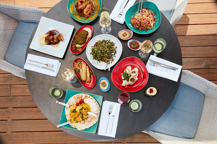 """We love colorful cooking!    Discover our contemporary Mediterranean & Middle Eastern dishes at """"Thalassa"""" Restaurant & Bar!"""