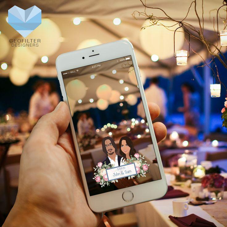 Snapchat Wedding Geofilter   Custom Design   Wedding Geofilter   Snapchat Geofilter   Wedding Gift   Gift Idea   Couples Gift Idea   Wedding Inspiration   Wedding Idea