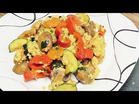 Kasza jaglana z warzywami i kurczakiem /Kasia ze slaska gotuje - YouTube