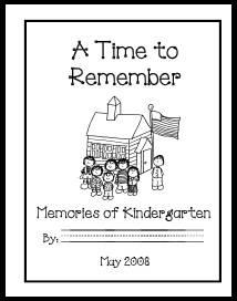 printable kindergarten memory book kindergarten scrapbook ideas p. Black Bedroom Furniture Sets. Home Design Ideas