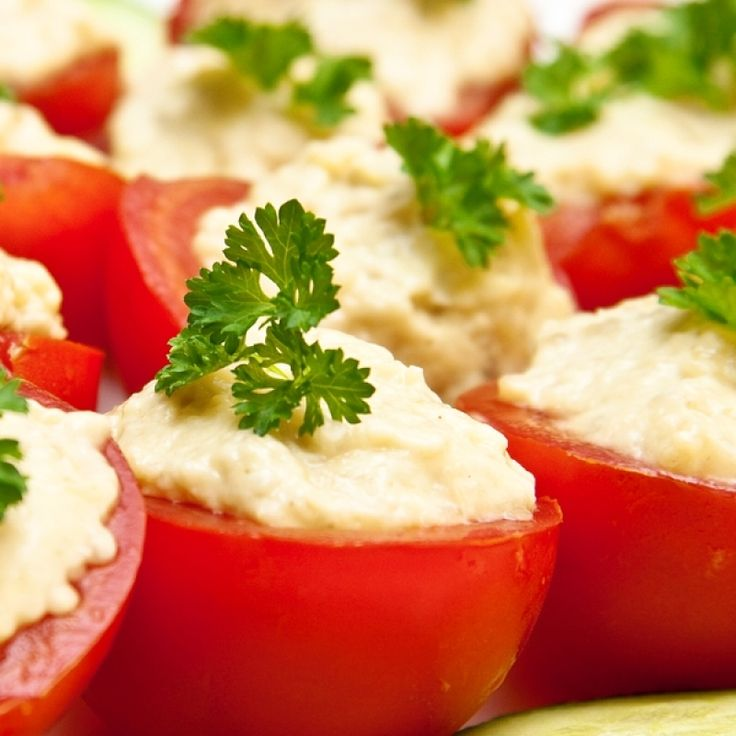 A very yummy recipe for tuna and cheese stuffed tomatoes for Great party appetizer recipes