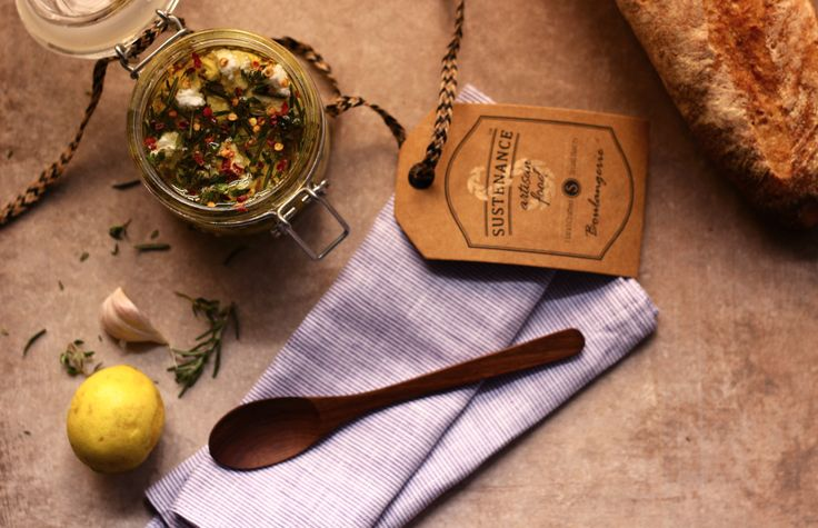 marinated goat's cheese, edible gifts, diy gourmet gift
