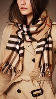 Heritage Check Cashmere Scarf | Burberry