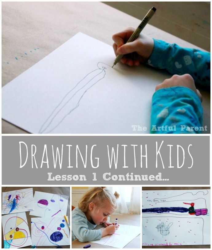 Drawing with Kids using the Monart Method - Lesson 1 Continued